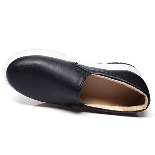 Taoffen forme Femmes Chaussures Noir Chaussures Casual Plate Plate tgqYxTx