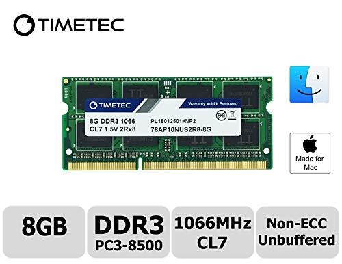 (Timetec Hynix IC Apple 8GB DDR3 PC3-8500 1066MHz Memory Upgrade for MacBook 13-inch Mid 2010, MacBook Pro 13-inch Mid 2010, iMac 27-inch Late 2009, Mac Mini Mid 2010/Server (8GB))