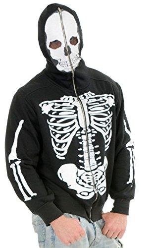Skeleton Hoodie Costume - Teen (Skeleton Hoodie Teen Costume)