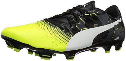 Puma Mens Evopower 3.3 Graphic Fg Soccer Shoe Safety Geel-wit-zwart