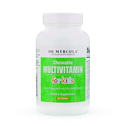 Dr. Mercola Multivitamin for Kids – 60 Chewable Multivitamin Tablets – Support Your Child's Health with Delicious, Sugar-Free and Non-GMO Children's Chewable Multivitamins (Tablets Vitamins Chewable Sugar Free)