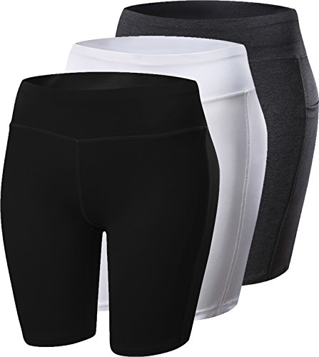 Womens-Compression-Shorts-Fitness-Workout-Running-Yoga-Shorts