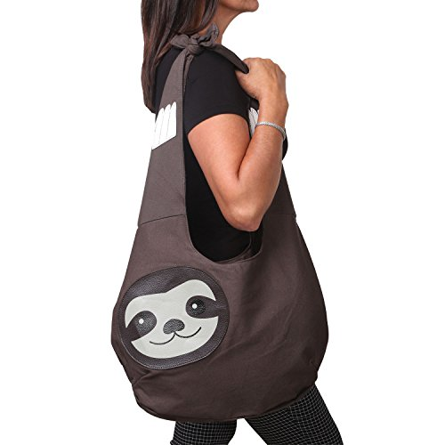 Sleepyville Critters Hang Loose Sloth Hobo Bag On Canvas by WonderMolly (Image #3)