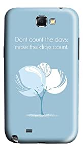 Quote Days Count Polycarbonate Hard Case Back for Samsung Galaxy Note 2 / Note II / N7100