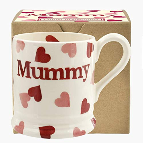 Emma Bridgewater Pink Hearts Mummy Half Pint Mug Boxed