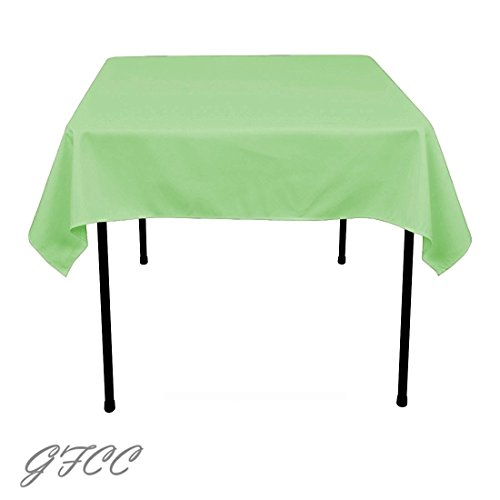 GFCC 54 x 54-Inch Seamless Tea Green Rectangular Polyester Tablecloth For Wedding Party Decorations - Woven Tea Cart