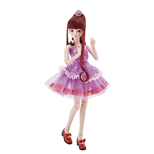 ABBYFRANK 60cm Large BJD Ball Jointed Doll Toys Cosplay Rapunzel Dress With Wig Clothes Shoes For Girl/ 100% Custom-made / Free Make-up + Free Clothes(Jasmine Fairy)