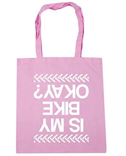 HippoWarehouse Is My Bike Okay? Einkaufstasche Fitnessstudio Strandtasche 42cm x38cm, 10 liter - Klassisch Rosa, One size