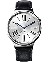 Huawei Watch Stainless Steel with Black Suture Leather...