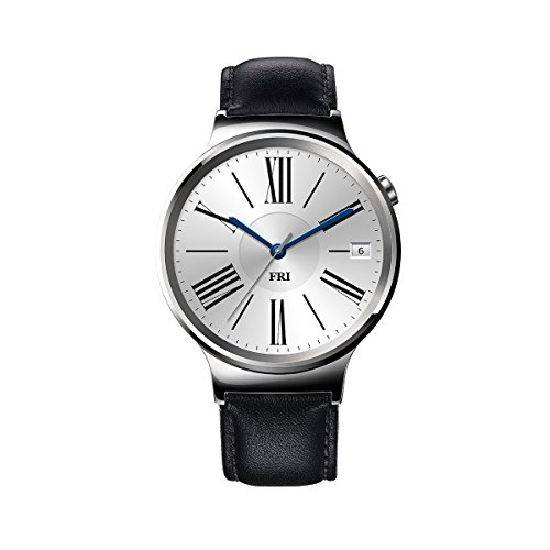 Huawei Watch Stainless Steel with Black Suture Leather Strap (U.S. (Wrist Pedometer With Display)