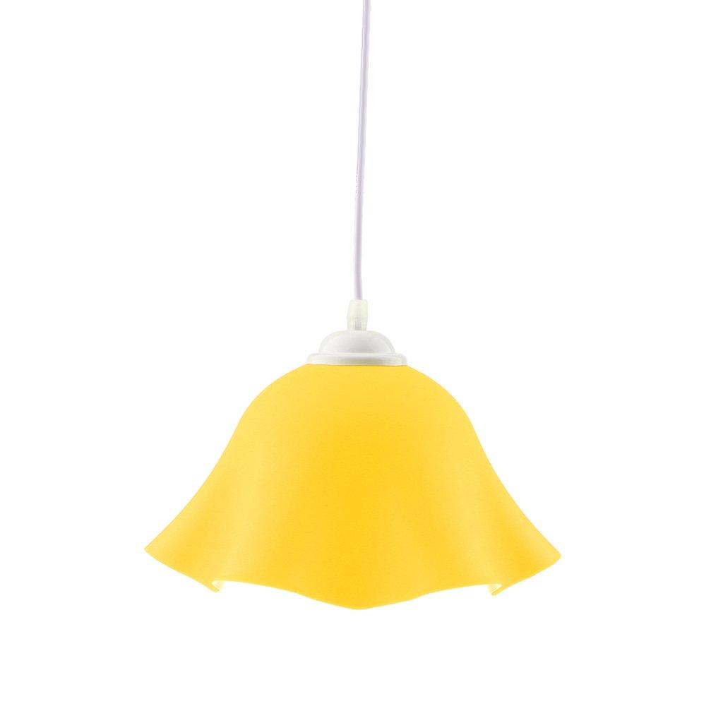 MagiDeal Sombra Colgante de Lámpara de Techo Moderna Forma de Flor Decoración de Bombillas de Lámpara de Luz - Amarillo