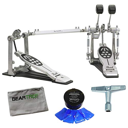 ter Double Bass Drum Pedal Bundle w/Drum Key, Moongel, and G ()