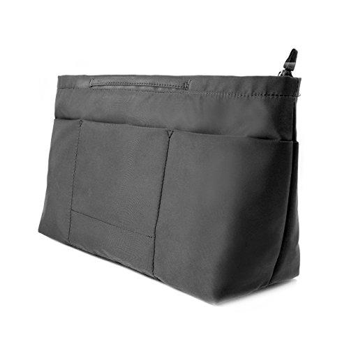 bag in bag Handbag Pouch Insert Bag Organiser Expandable with zipper Jumbo...