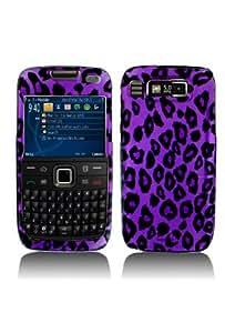 Premium - Nokia E73/Mode Purple/Black Leopard Cover - Faceplate - Case - Snap On - Perfect Fit Guaranteed