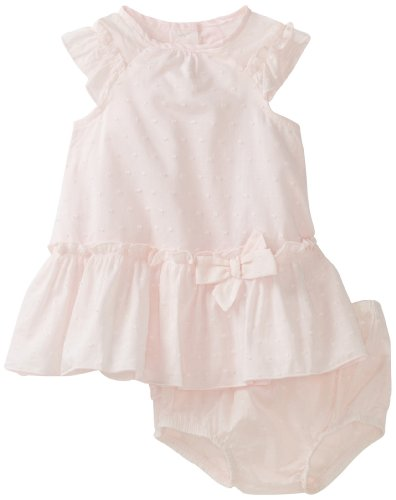 Little Me Baby-Girls Newborn Belle Ruch Dress And Panty