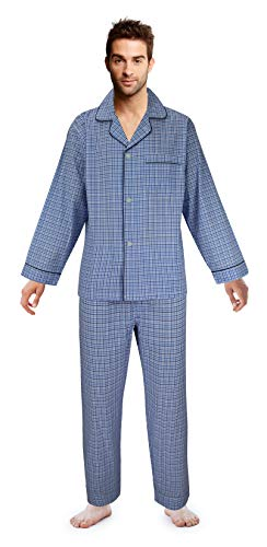 Casual Trends Men's Pajama Set Broadcloth Pajamas for Men, Medium