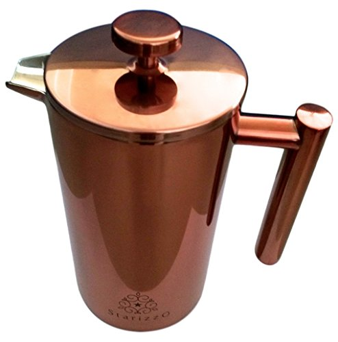 French Press Coffee Maker With Beautiful Copper Finish