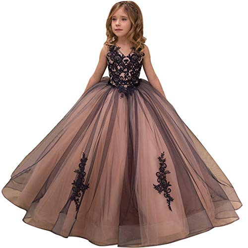 Kids Gowns - Flower Girl Dress Kids Lace Applique