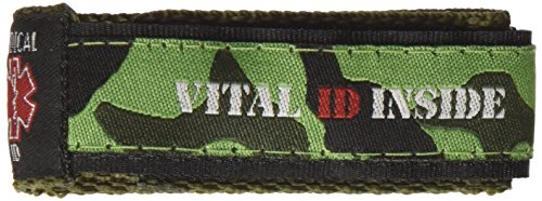 Medical Id Band (Vital ID Medical ID Wrist Band - Child (Camo Green))