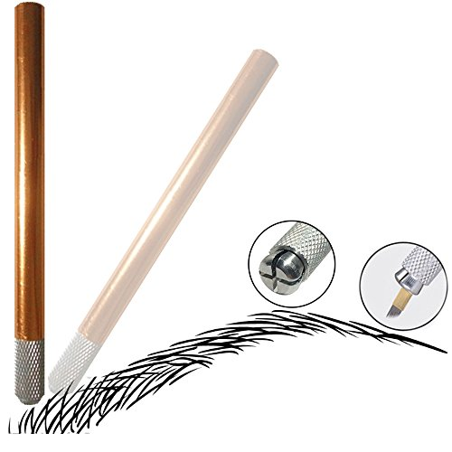 Pinkiou Professional Eyebrow Microblading Pen for Permanent Tattoo Practice Supplies with 14 Pin Needle