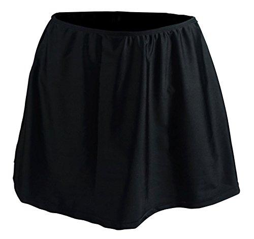 - Cocoship Black Women's Solid Elegant A-line Skirted Bikini Bottom Skirt Swimdress 10(FBA)