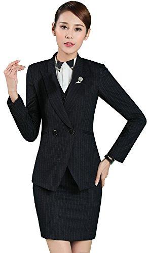 Jacket Skirt Pant Suit - 3