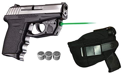 Cpx Series Battery - Laser Kit for SCCY CPX-1, CPX-2, CPX-3 w/LASERPRO Holster, Touch-Activated ArmaLaser TR10-G Green Laser & 2 Extra Batteries