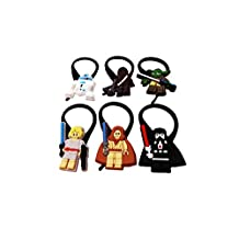 AVIRGO Lego #3 Star Wars Bag Tag Identify your Luggage Set of 6 pcs / Sac Marker Identifiez Votre Bagages