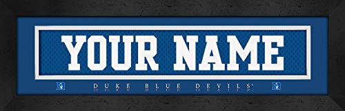 Duke Blue Devils College Jersey Nameplate Wall Print, Personalized Gift, Boy's Room Decor 6x22 Unframed Poster