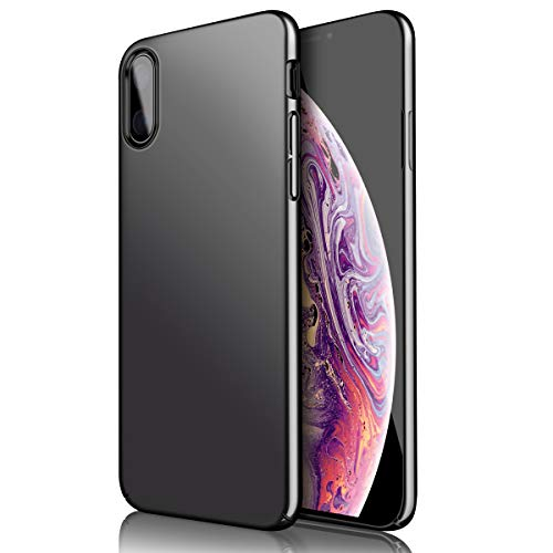 Eartonx Slim Fit case, Hard Plastic PC Ultra Thin Phone Cover Case Compatible for iPhone Xs/XS Max (Black, XS Max)
