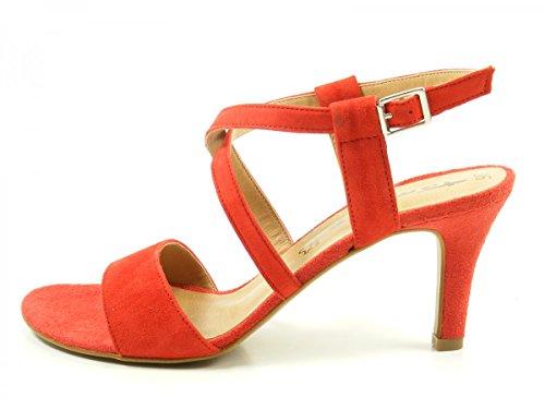 Tamaris 1-28028-38 Sandalias para mujer Rot