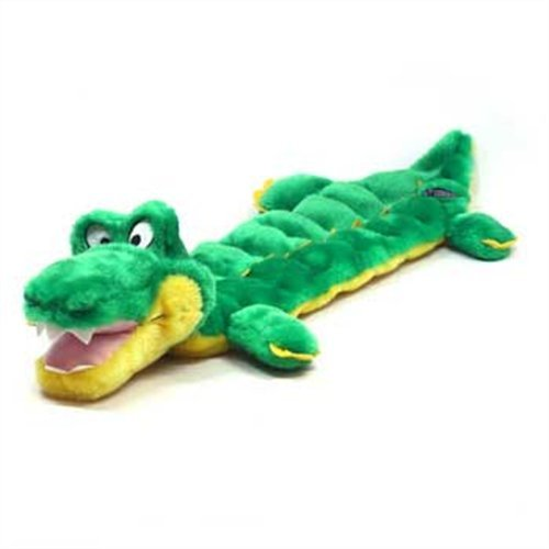Squeaker Matz Dog Squeaky Toy Multi-Squeaker Toy for Dogs by Outward Hound, Long Body 16 Squeaker, Gator Kyjen Plush Squeak Mat