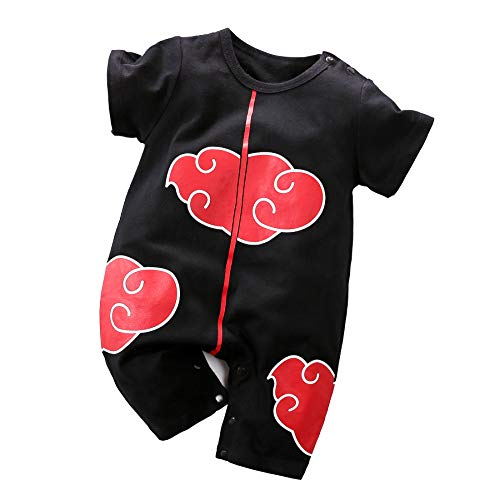 Yierying Baby Clothes Cosplay Dress Up Fire Shadow Clothing Newborn Jumpsuits Baby Lovely Cartoon Romper Black -