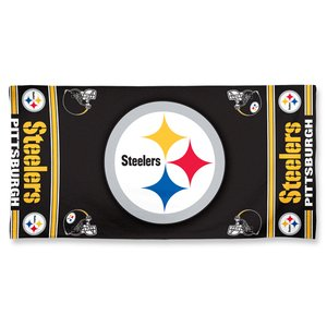 WinCraft NFL Pittsburgh Steelers Fiber Beach Towel, 9lb/30 x 60