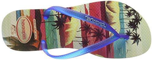 Slim blue beige 8747 Infradito Paisage Havaianas Donna Multicolore aqgHxSw