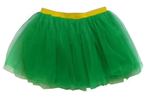 Robin Costumes Adults (So Sydney Adult, Plus, Kids Size SUPERHERO TUTU SKIRT Halloween Costume Dress Up (L (Adult Size), Green & Yellow)