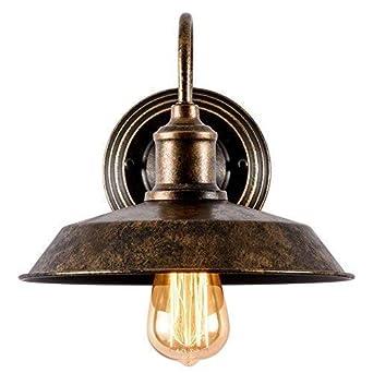 Apliques de Rustica Pared Metal Lampara Vintage Retro Lámpara Industrial de Pared E27 para la Salon, Cocina, Desván, Restaurante, Cafe, Club Decoración ...