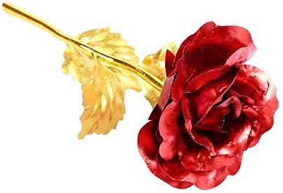 Rouge OuYou P/étales Rose en Soie Feuille dor dans Couverture en Verre Derni/ère /éternelle Rose LED Fallen en D/ôme Cadeau de Saint Valentin de No/ël
