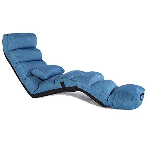 Sillas ZHIRONG Alargue la del sofá Lounge Sofá Cama Plegable Plegable del Piso del sofá del Futón de Asiento del Futón...
