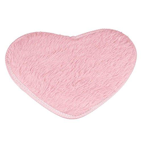 Longay 40X28cm Non-slip Bath Mats Kitchen Bathroom Home Decor (Pink) -
