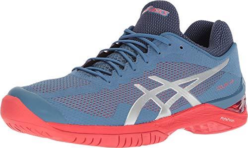 ASICS Gel-Court FF Unisex Tennis Shoe, Azure/Silver, 8.5 M US