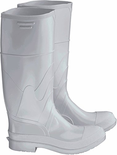 Bata Shoe 81012-11 Onguard Industries Size 11 White 16'' PVC Knee Boots With Safety-Loc Outsole, Steel Toe And Removable Insole