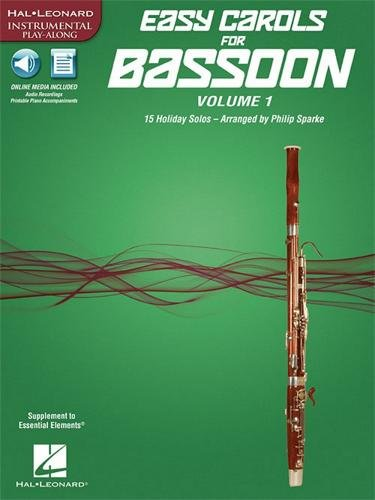 Music 1 Book Bassoon (Easy Carols for Bassoon, Vol. 1: 15 Holiday Solos (Hal Leonard Instrumental Play-along))