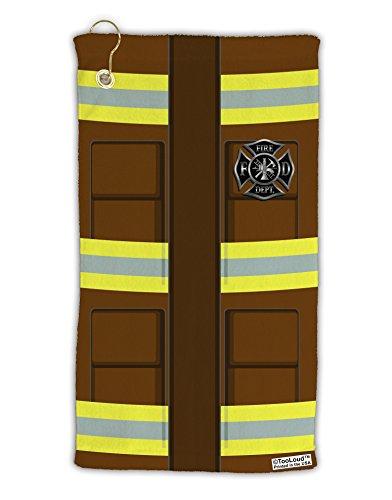 (TooLoud Firefighter Brown AOP Micro Terry Gromet Golf Towel 15