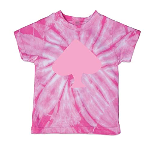 Cute Rascals Spade Light Pink Short Sleeve Crewneck Baby Boys-Girls Cotton Tie Dye T-Shirt Fine Jersey - Pink, 2T (Spades Tie Dye T-shirt)
