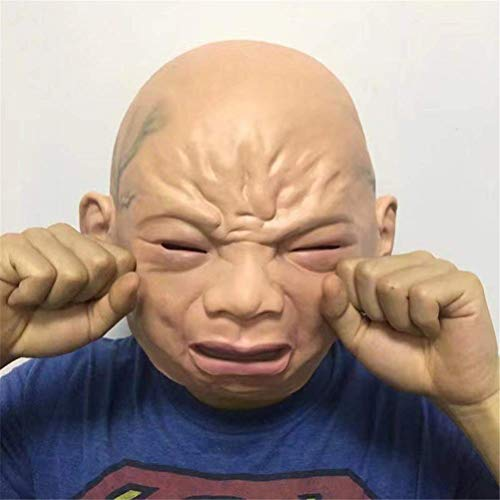 COPYLOVE Halloween Creepy Cry Baby Face Head Mask