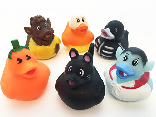 [GIFTEXPRESS Assorted Halloween Rubber Duckies/Halloween Costume Rubber Duck/ Halloween Decorations] (Rubber Ducky Halloween Costume)