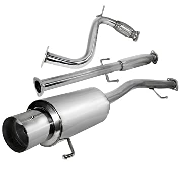 4th Gen CB7 CB9 F22 For Honda Accord Stainless Steel 4 inches Muffler Burnt Tip Catback Exhaust System