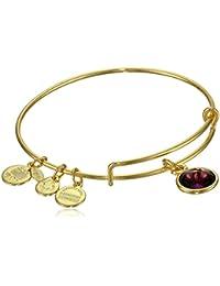"""Bangle Bar Imitation Birthstone Bangle Bracelet, 2.75"""""""