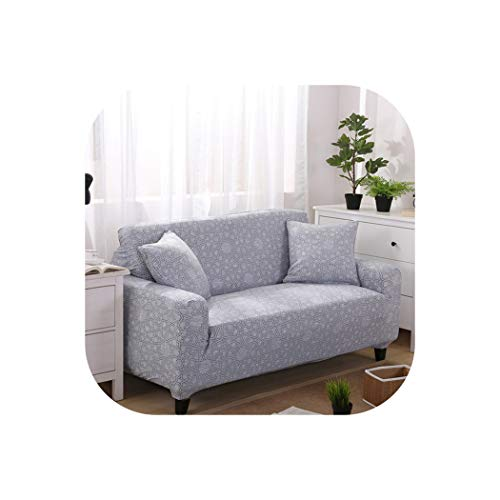 Elastic Sofa Cover Sectional Stretch Slipcovers for Living Room Couch Cover L Shape Armchair Cover,Color 16,45-45Cm Pillowcase-2 ()